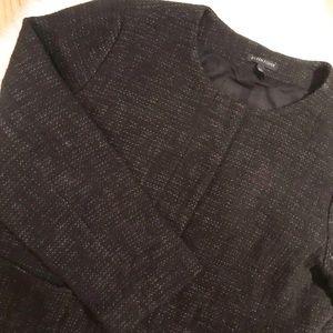 Eileen Fisher Black Linen Blend Blazer Jacket XL